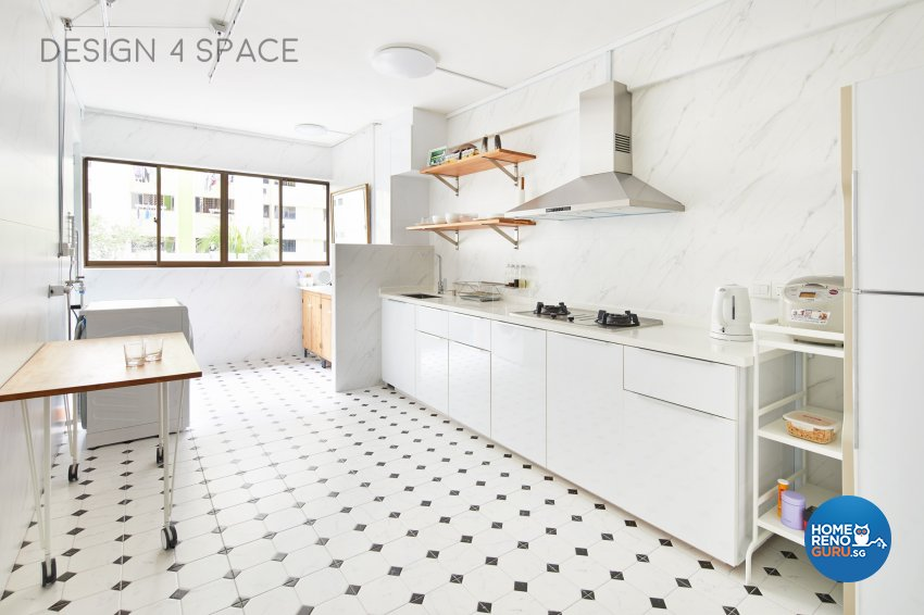 Minimalist, Modern, Scandinavian Design - Kitchen - HDB 4 Room - Design by Design 4 Space Pte Ltd