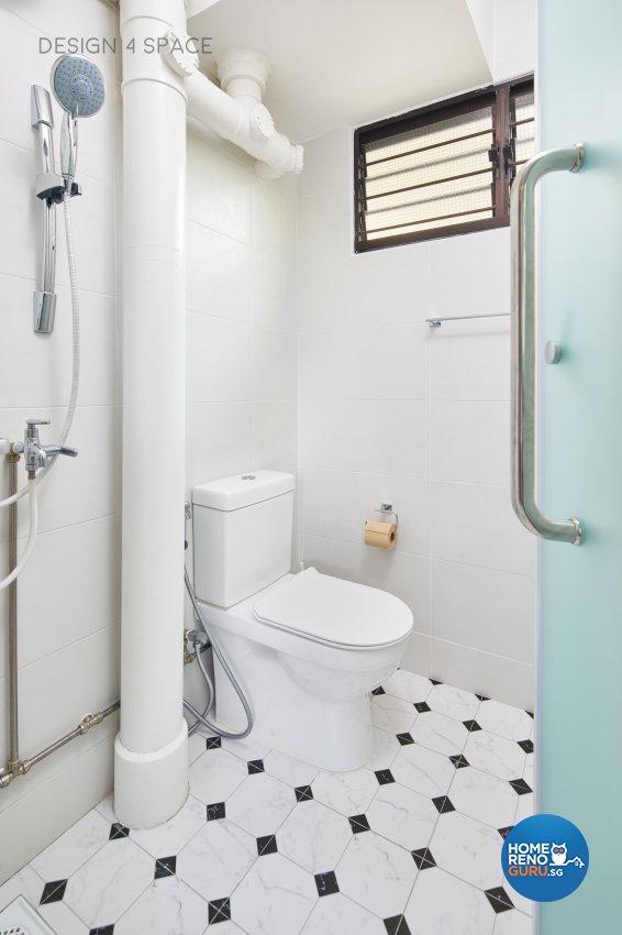 Minimalist, Modern, Scandinavian Design - Bathroom - HDB 4 Room - Design by Design 4 Space Pte Ltd