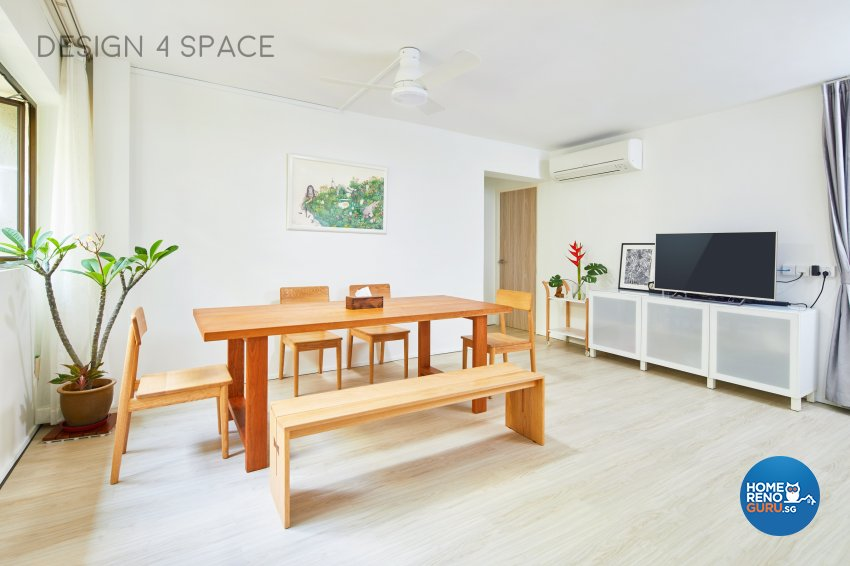 Minimalist, Modern, Scandinavian Design - Dining Room - HDB 4 Room - Design by Design 4 Space Pte Ltd