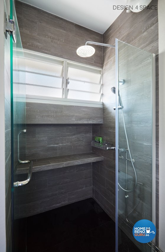 Industrial, Modern, Retro Design - Bathroom - HDB 4 Room - Design by Design 4 Space Pte Ltd