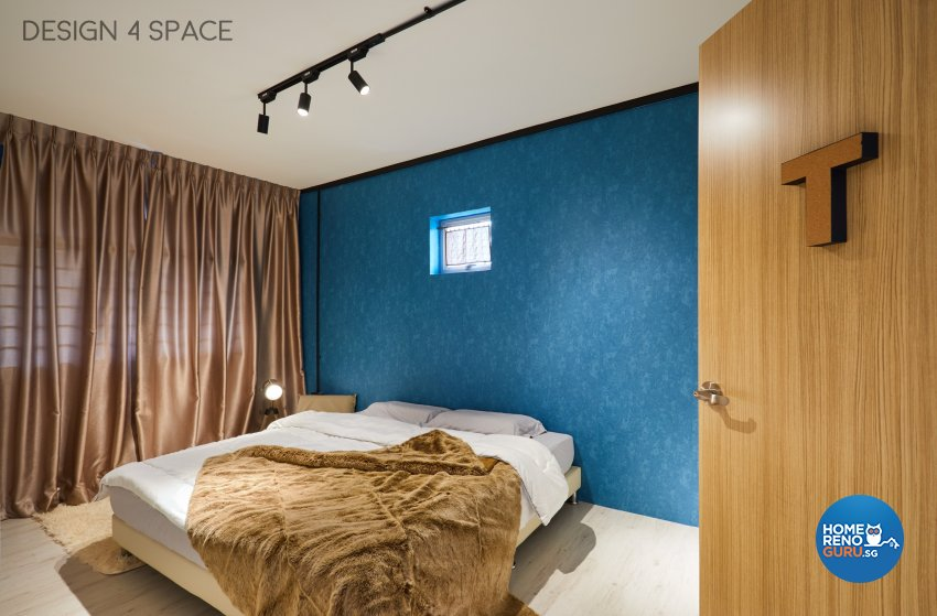 Industrial, Modern, Retro Design - Bedroom - HDB 4 Room - Design by Design 4 Space Pte Ltd