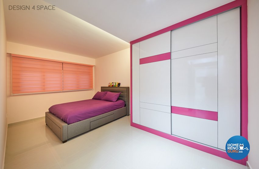 Contemporary, Minimalist, Modern Design - Bedroom - HDB 4 Room - Design by Design 4 Space Pte Ltd