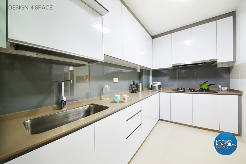 Contemporary, Minimalist, Modern Design - Kitchen - HDB 4 Room - Design by Design 4 Space Pte Ltd