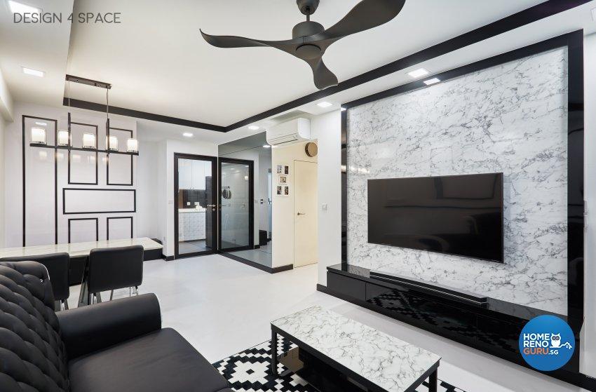 Classical, Modern, Victorian Design - Living Room - HDB 4 Room - Design by Design 4 Space Pte Ltd