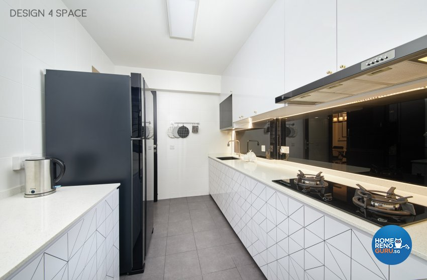 Classical, Modern, Victorian Design - Kitchen - HDB 4 Room - Design by Design 4 Space Pte Ltd