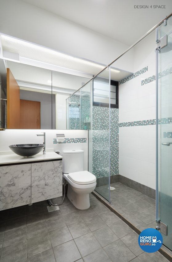 Classical, Modern, Victorian Design - Bathroom - HDB 4 Room - Design by Design 4 Space Pte Ltd