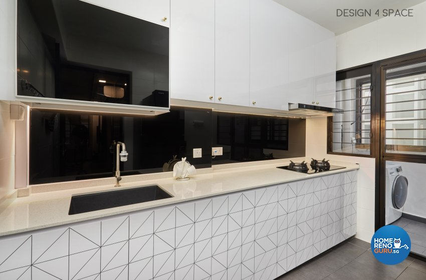 Classical, Modern, Victorian Design - Kitchen - HDB 4 Room - Design by Design 4 Space Pte Ltd