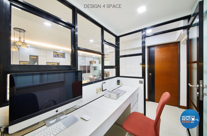 Contemporary, Modern Design - Study Room - HDB 4 Room - Design by Design 4 Space Pte Ltd