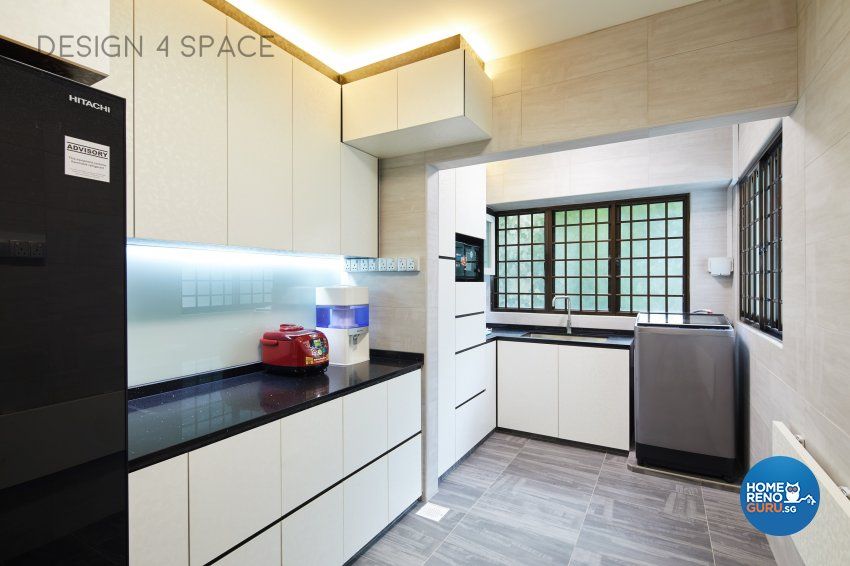 Contemporary, Eclectic, Modern Design - Kitchen - HDB 4 Room - Design by Design 4 Space Pte Ltd