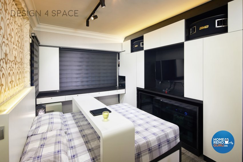 Contemporary, Eclectic, Modern Design - Bedroom - HDB 4 Room - Design by Design 4 Space Pte Ltd
