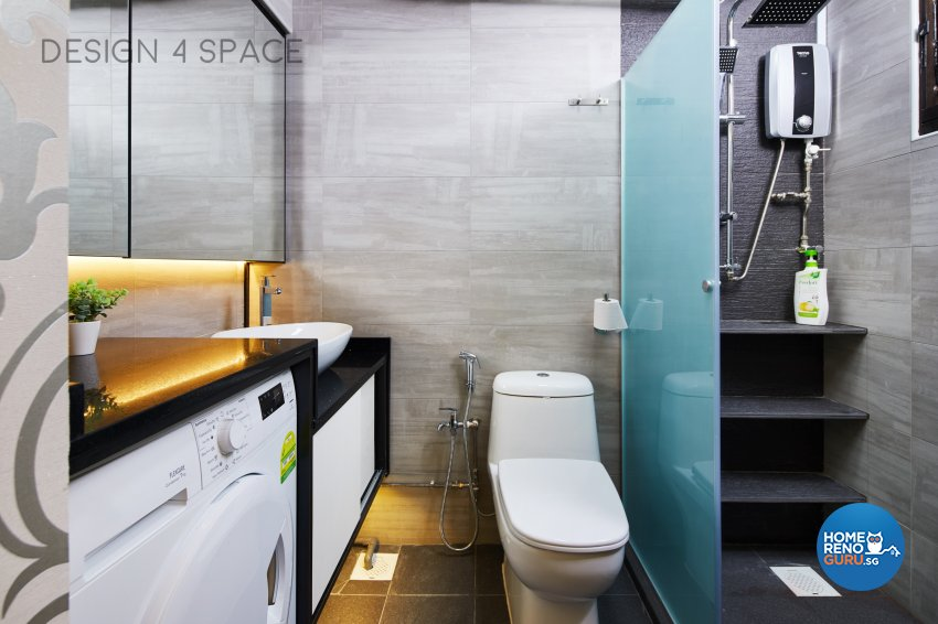 Contemporary, Eclectic, Modern Design - Bathroom - HDB 4 Room - Design by Design 4 Space Pte Ltd