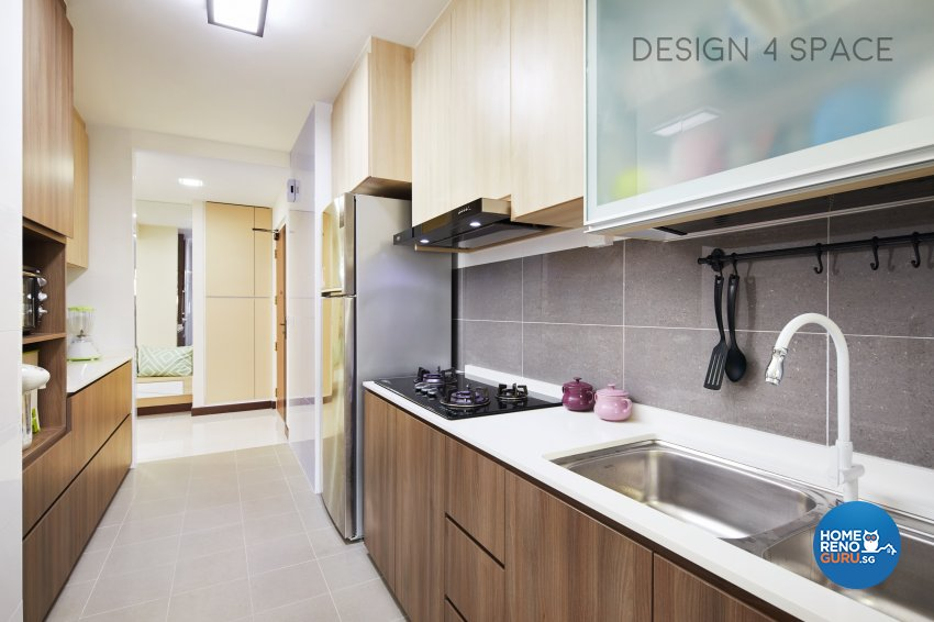 Contemporary, Minimalist, Scandinavian Design - Kitchen - HDB 4 Room - Design by Design 4 Space Pte Ltd