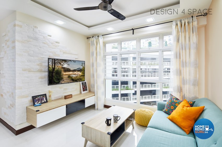 Contemporary, Minimalist, Scandinavian Design - Living Room - HDB 4 Room - Design by Design 4 Space Pte Ltd