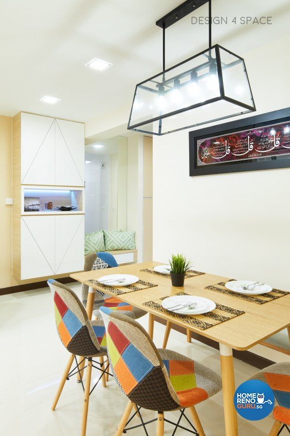 Contemporary, Minimalist, Scandinavian Design - Dining Room - HDB 4 Room - Design by Design 4 Space Pte Ltd
