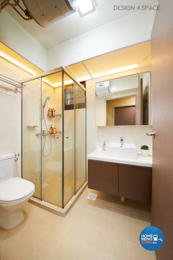 Contemporary, Minimalist, Modern Design - Bathroom - HDB 4 Room - Design by Design 4 Space Pte Ltd