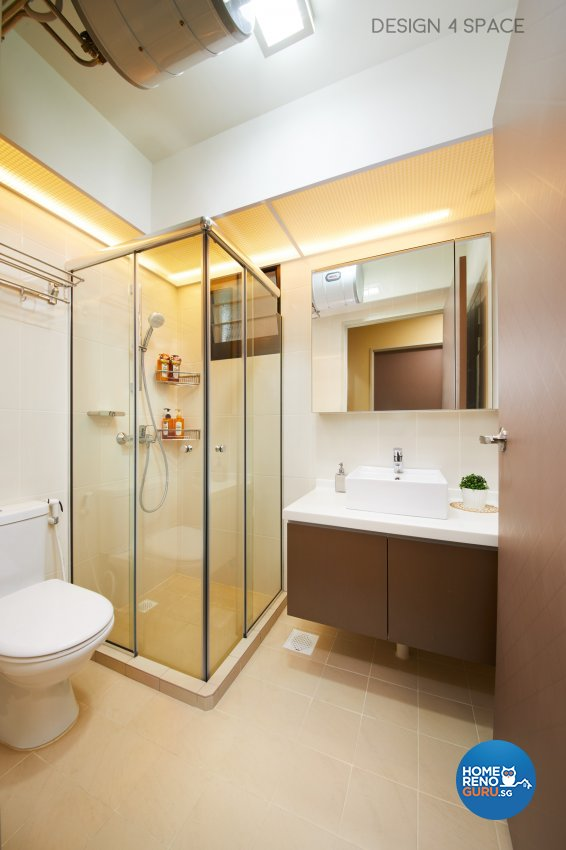 Contemporary, Minimalist, Modern Design - Bathroom - HDB 4 Room - Design by Design 4 Space Pte Ltd