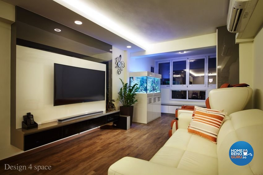 Contemporary, Modern Design - Living Room - HDB 4 Room - Design by Design 4 Space Pte Ltd