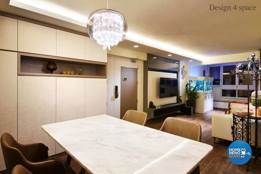 Contemporary, Modern Design - Dining Room - HDB 4 Room - Design by Design 4 Space Pte Ltd