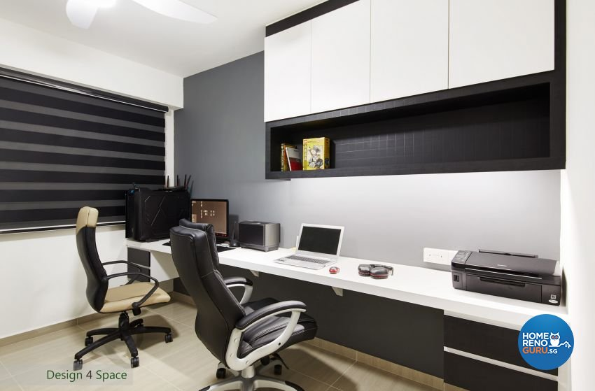Contemporary, Minimalist, Modern Design - Study Room - HDB 4 Room - Design by Design 4 Space Pte Ltd