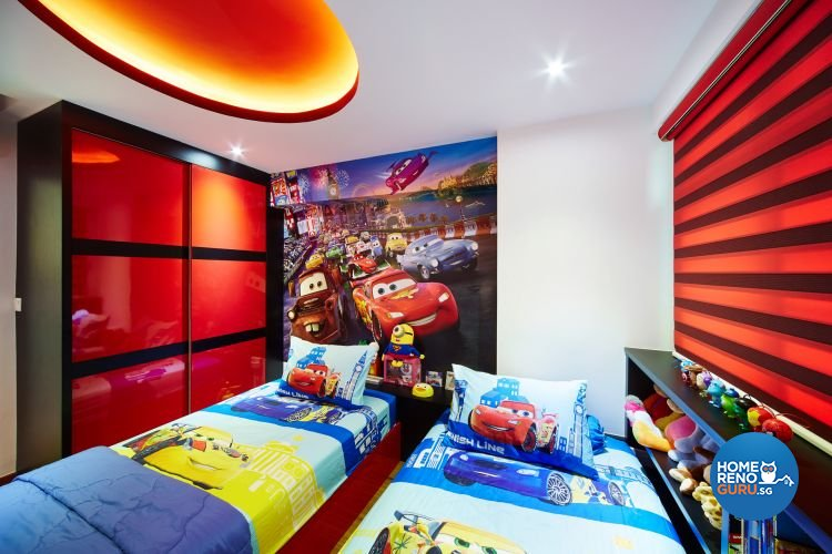 Eclectic, Modern Design - Bedroom - HDB 5 Room - Design by Design 4 Space Pte Ltd