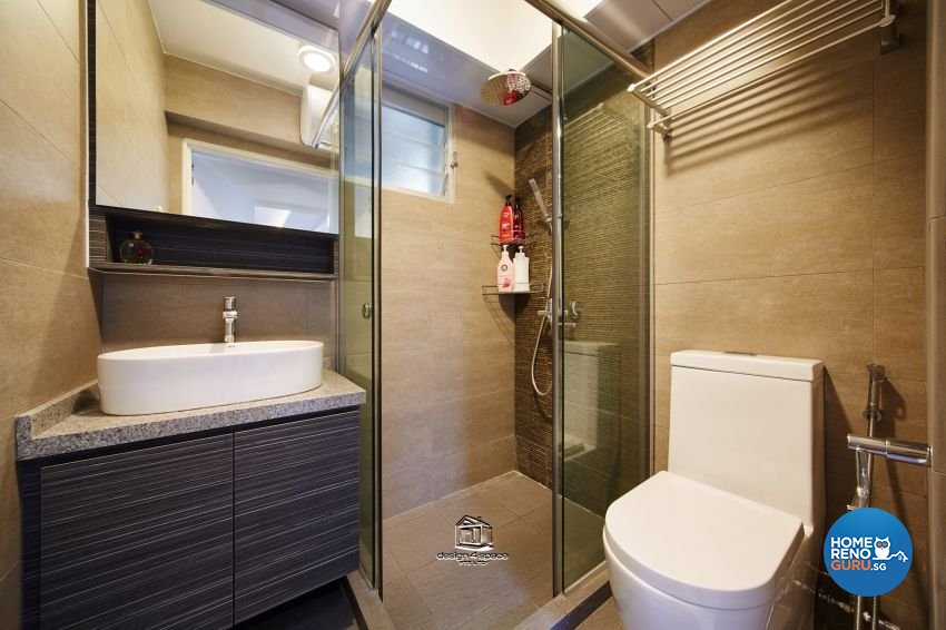 Eclectic, Modern Design - Bathroom - HDB 5 Room - Design by Design 4 Space Pte Ltd