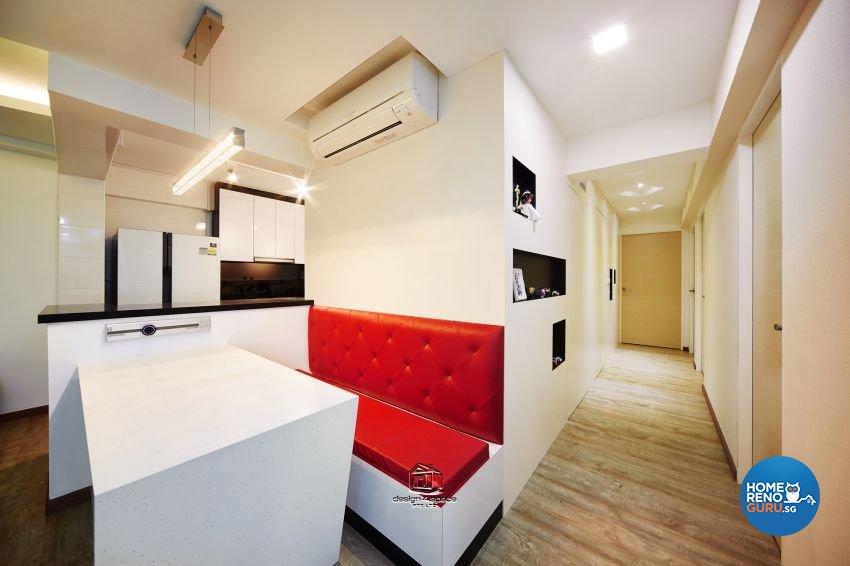 Eclectic, Modern Design - Dining Room - HDB 5 Room - Design by Design 4 Space Pte Ltd