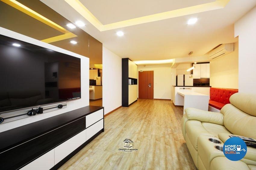 Eclectic, Modern Design - Living Room - HDB 5 Room - Design by Design 4 Space Pte Ltd
