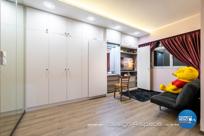 Contemporary, Modern Design - Bedroom - HDB 5 Room - Design by Design 4 Space Pte Ltd