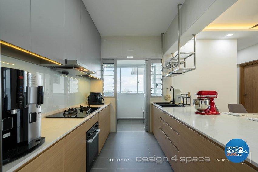 Contemporary Design - Kitchen - HDB 5 Room - Design by Design 4 Space Pte Ltd