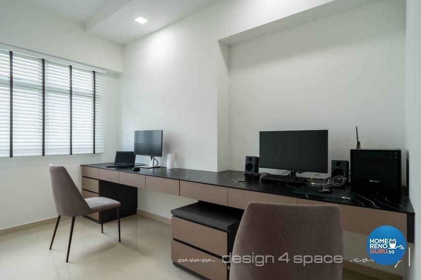 Contemporary Design - Study Room - HDB 5 Room - Design by Design 4 Space Pte Ltd