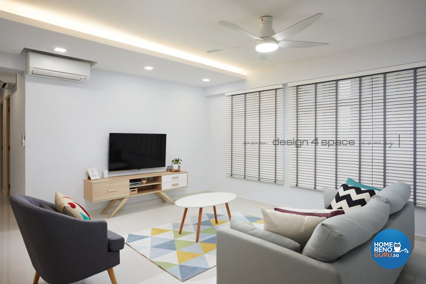 Minimalist, Modern, Scandinavian Design - Living Room - HDB 5 Room - Design by Design 4 Space Pte Ltd