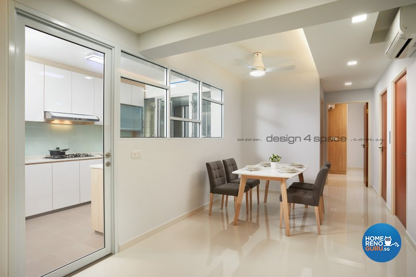 Minimalist, Modern, Scandinavian Design - Dining Room - HDB 5 Room - Design by Design 4 Space Pte Ltd