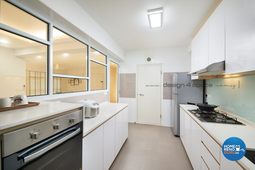 Minimalist, Modern, Scandinavian Design - Kitchen - HDB 5 Room - Design by Design 4 Space Pte Ltd