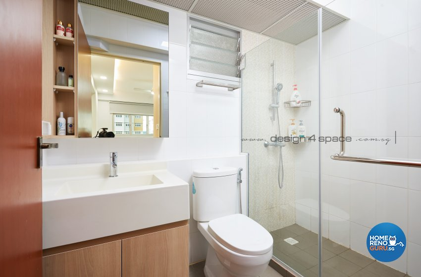 Minimalist, Modern, Scandinavian Design - Bathroom - HDB 5 Room - Design by Design 4 Space Pte Ltd