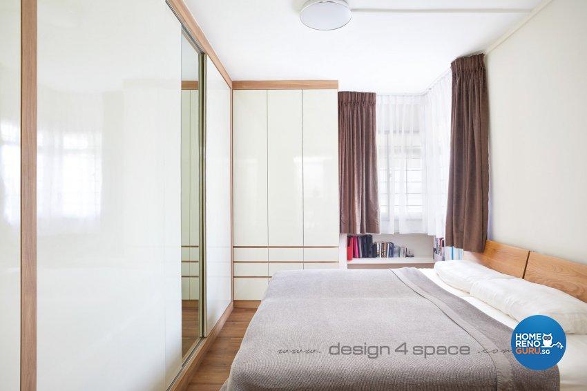 Contemporary Design - Bedroom - HDB 5 Room - Design by Design 4 Space Pte Ltd