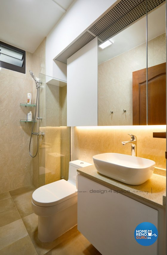 Contemporary Design - Bathroom - HDB 5 Room - Design by Design 4 Space Pte Ltd