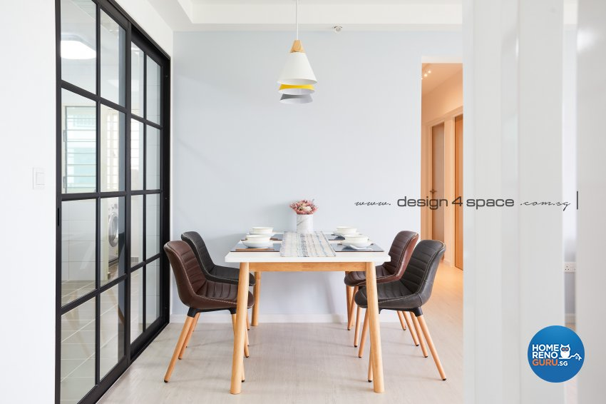 Minimalist, Scandinavian Design - Dining Room - HDB 5 Room - Design by Design 4 Space Pte Ltd