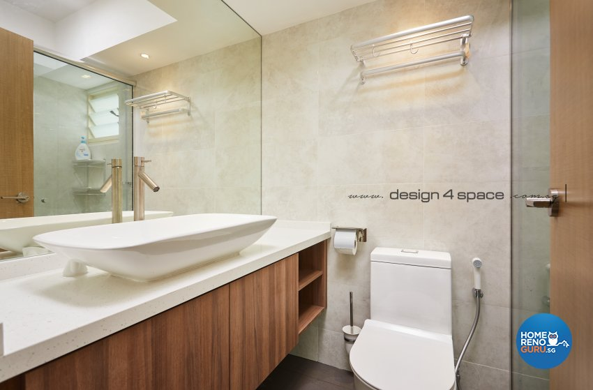 Minimalist, Scandinavian Design - Bathroom - HDB 5 Room - Design by Design 4 Space Pte Ltd