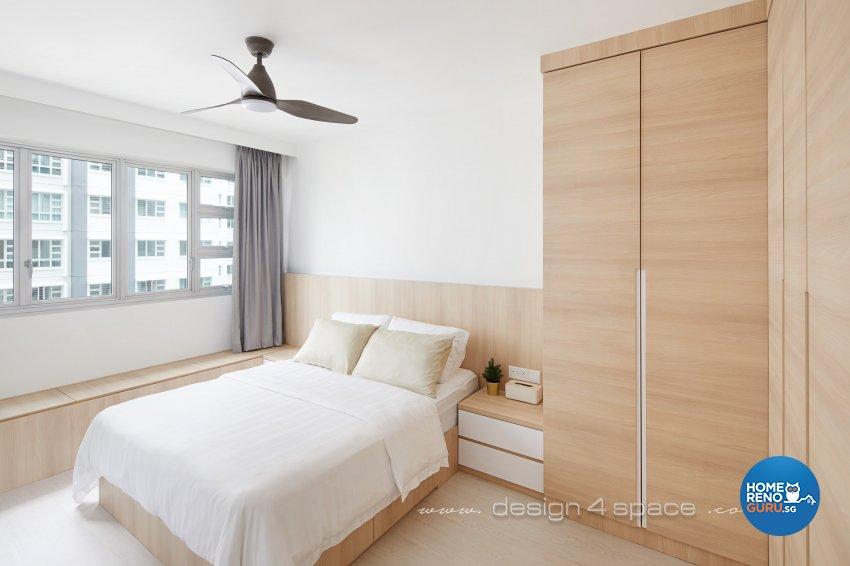 Contemporary, Scandinavian Design - Bedroom - HDB 5 Room - Design by Design 4 Space Pte Ltd