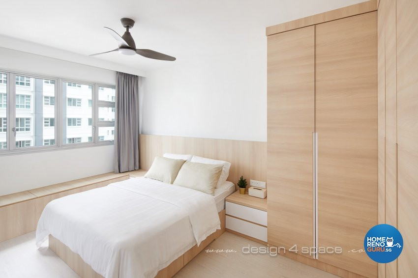 Contemporary, Scandinavian Design - Bedroom - HDB 5 Room - Design by Design 4 Space Pte Ltd