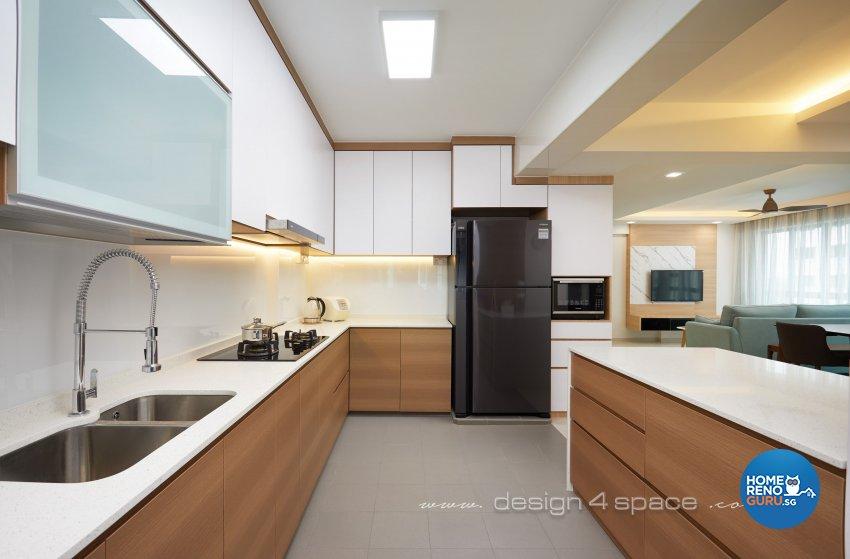 Contemporary, Scandinavian Design - Kitchen - HDB 5 Room - Design by Design 4 Space Pte Ltd