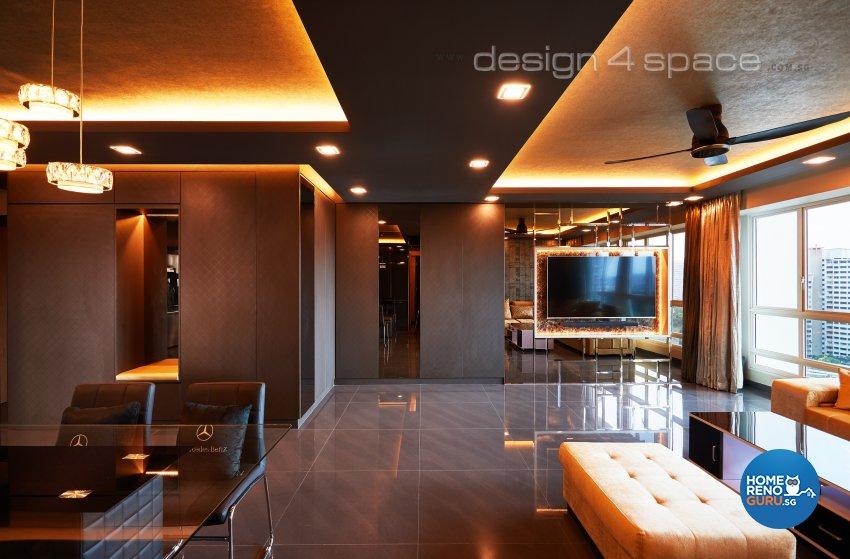 Modern Design - Living Room - HDB 5 Room - Design by Design 4 Space Pte Ltd