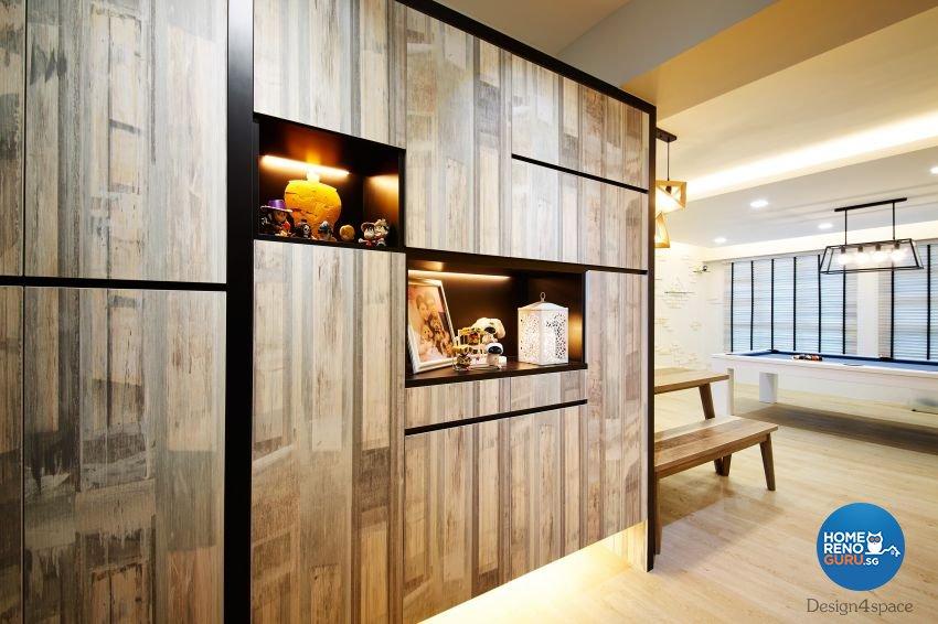 Industrial, Scandinavian Design - Living Room - HDB 5 Room - Design by Design 4 Space Pte Ltd