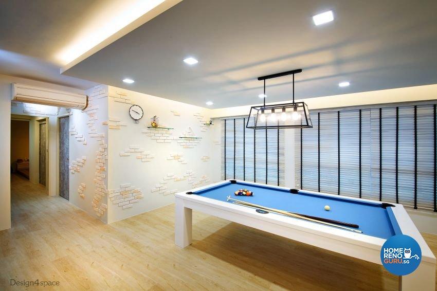 Industrial, Scandinavian Design - Entertainment Room - HDB 5 Room - Design by Design 4 Space Pte Ltd