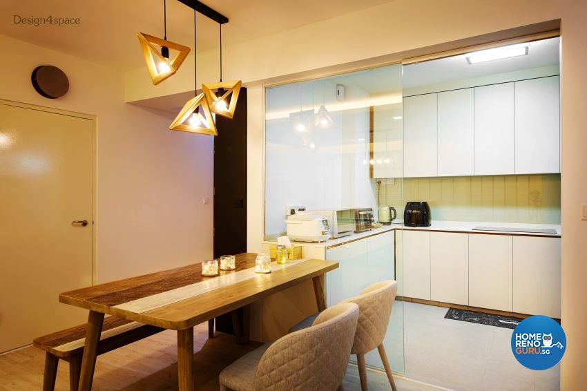 Industrial, Scandinavian Design - Kitchen - HDB 5 Room - Design by Design 4 Space Pte Ltd