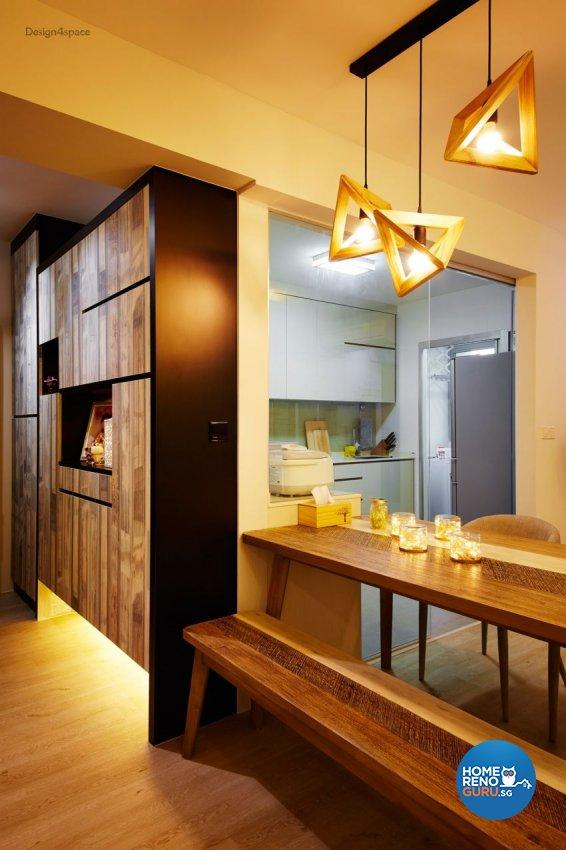 Industrial, Scandinavian Design - Dining Room - HDB 5 Room - Design by Design 4 Space Pte Ltd
