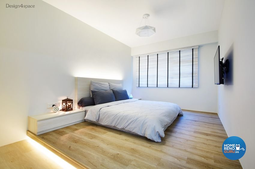 Industrial, Scandinavian Design - Bedroom - HDB 5 Room - Design by Design 4 Space Pte Ltd