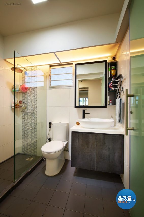 Industrial, Scandinavian Design - Bathroom - HDB 5 Room - Design by Design 4 Space Pte Ltd