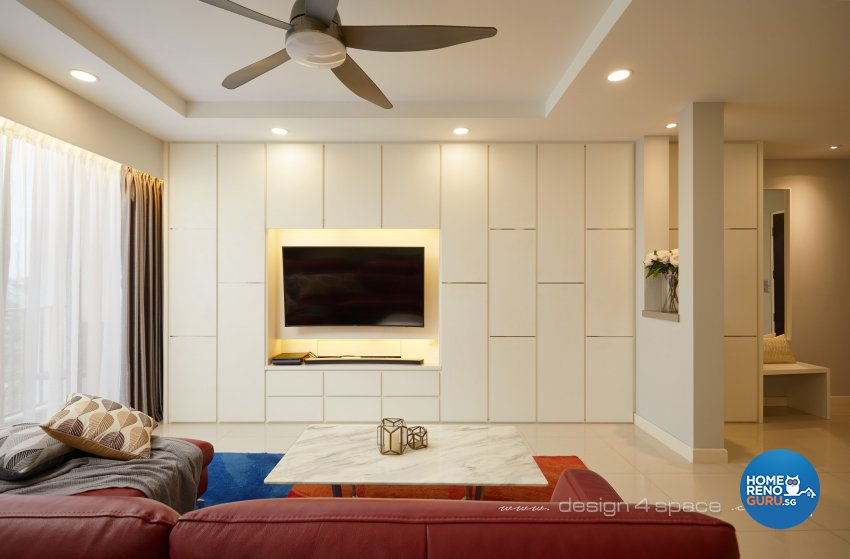 Contemporary, Modern Design - Living Room - HDB 5 Room - Design by Design 4 Space Pte Ltd