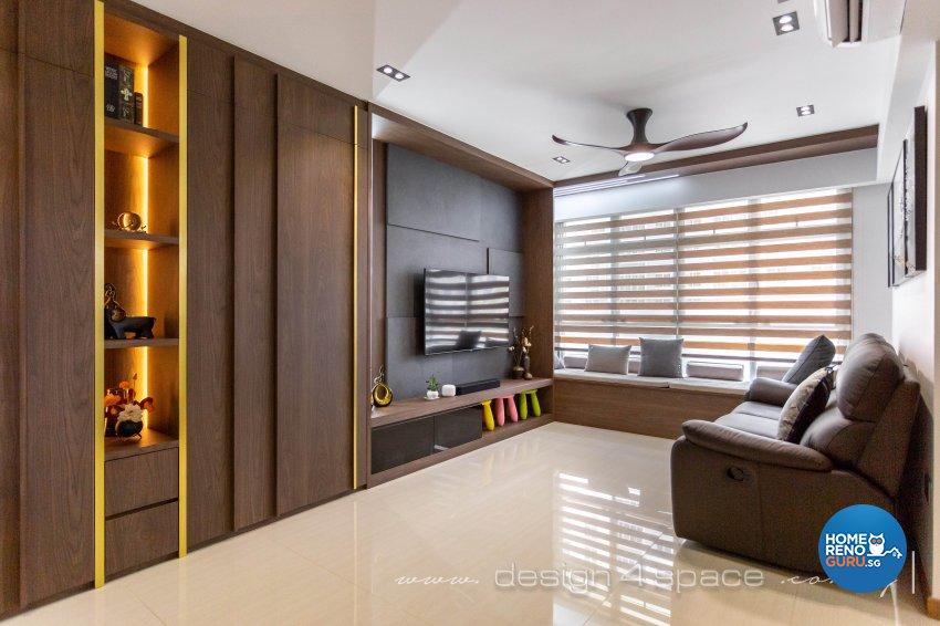 Contemporary, Modern Design - Living Room - HDB 5 Room - Design by Design 4 Space Pte Ltd